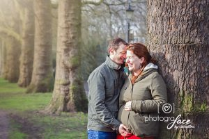 expecting couple in Battersea Park, London