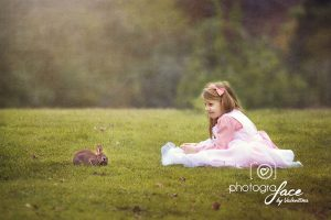 child and bunny - children photography battersea