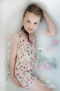 milk bath with flowers