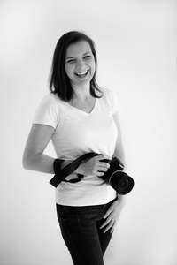 black and white portrait of Valentina, newborn and maternity photographer in London